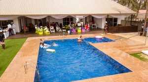 Pool view used for Mr Biodun Awosika's 60th birthday beach party